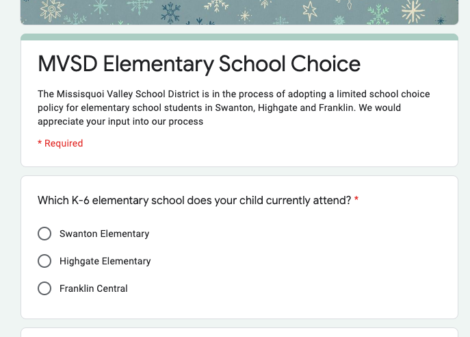 School Choice Suvery Screen Shot