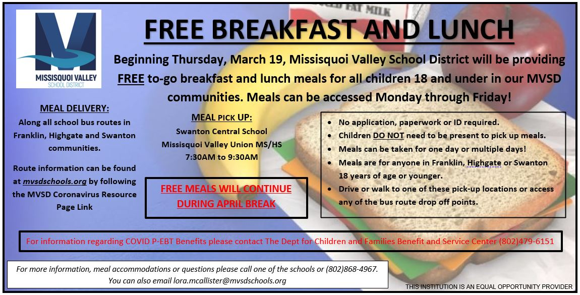 Free Breakfast and Lunch Info